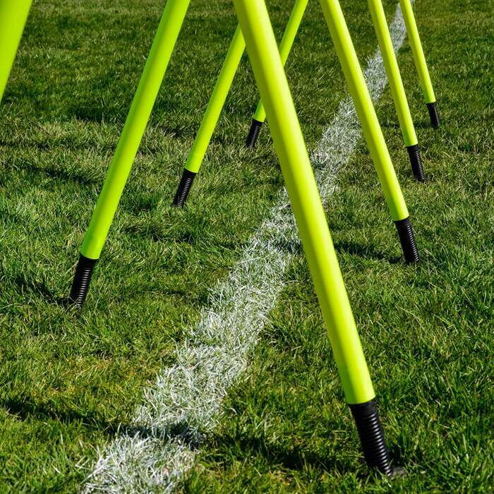 Grass Based Slalom Poles | Soccer Training Slalom Poles