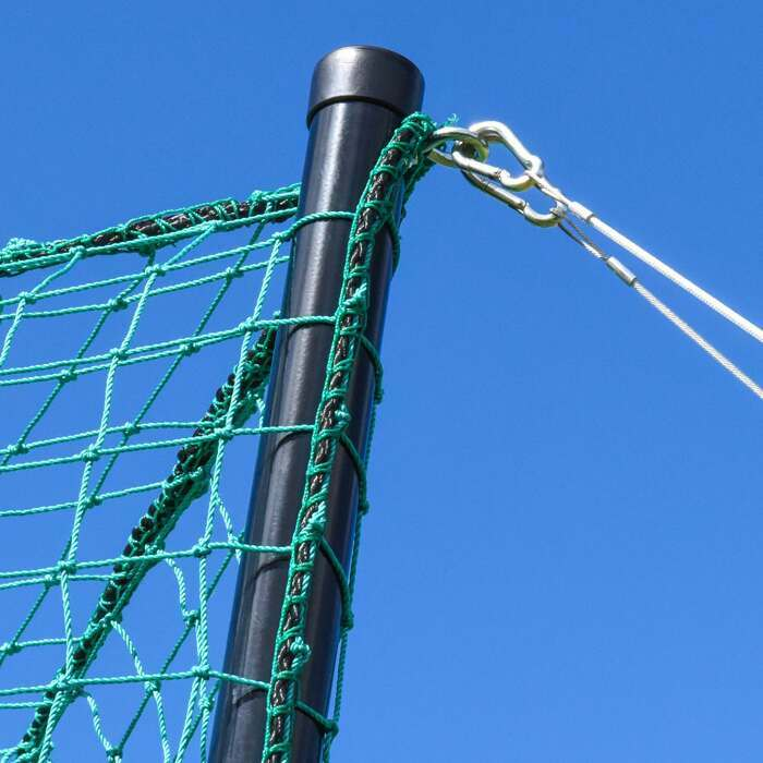 Archery netting pole