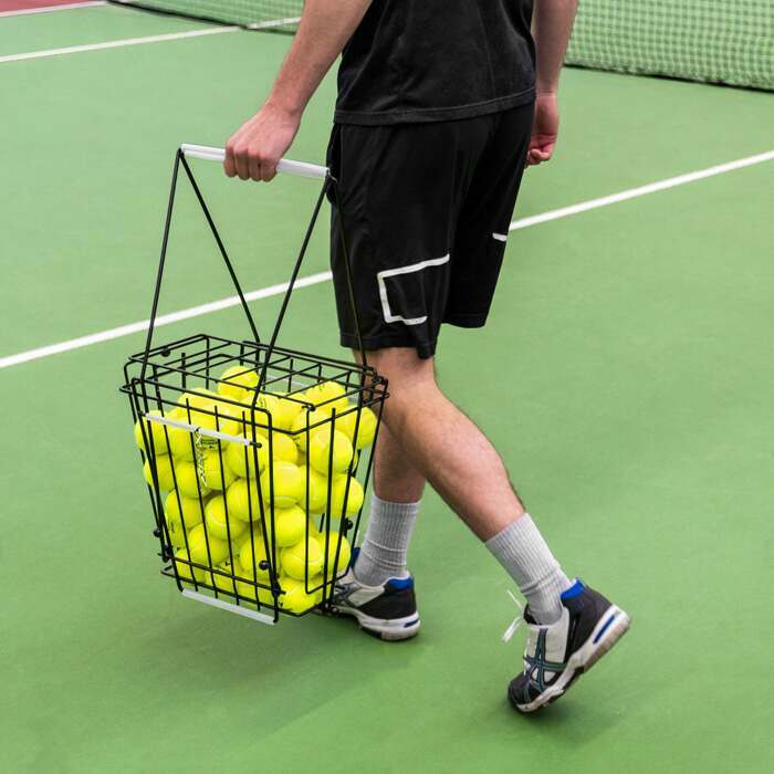 Tennis Ball Basket With Lockable Lid | Easy Storage