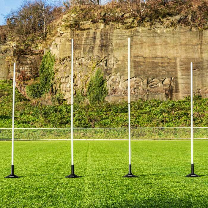 Mini Afl Goal Posts With Rubber Bases