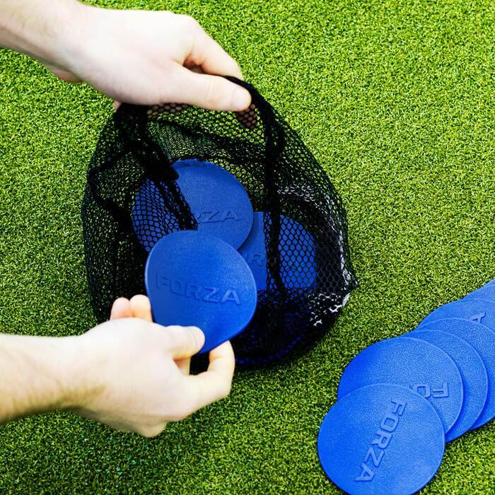 100% Weather-Resistant Flat Disc Markers | Durable Football Training Equipment