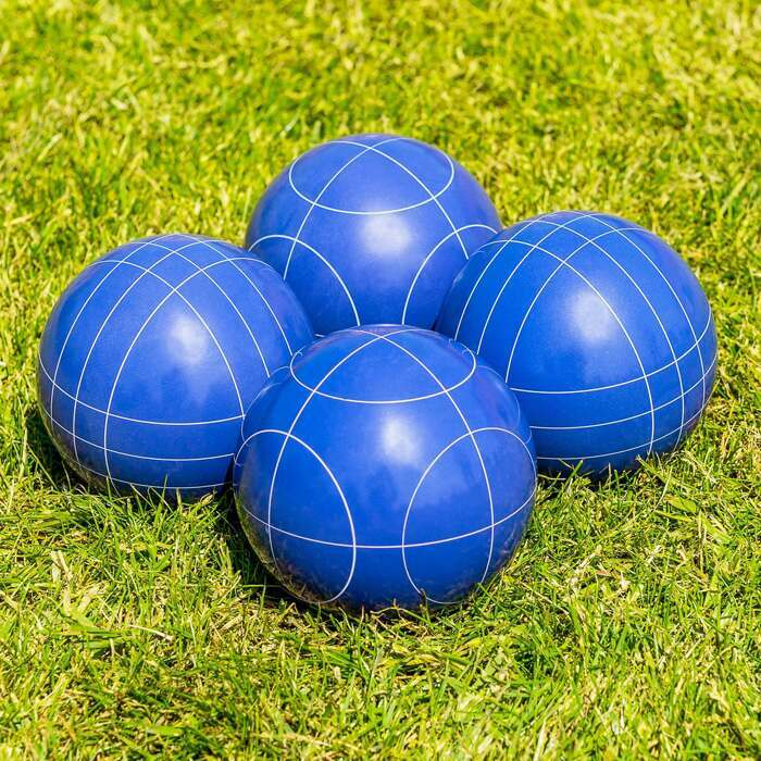Blaue 10cm Boccia Bälle aus Kunstharz