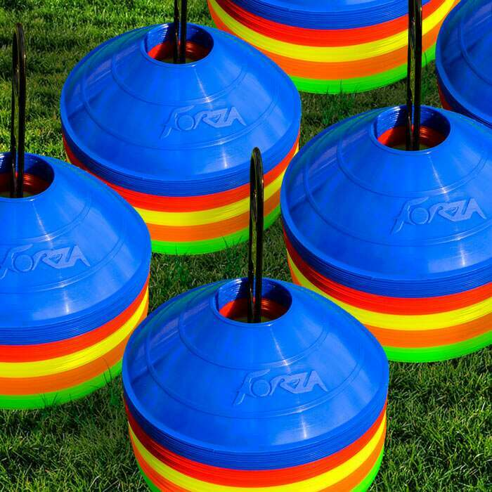 Weatherproof Multi-Coloured Sports Cones | Cricket Disc Markers