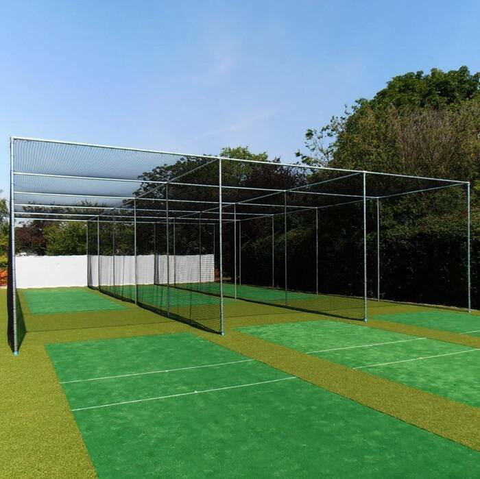 Socketed Steel Cricket Cage With Multiple Bays