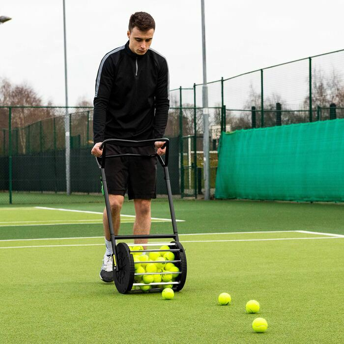 Easy Tennis Ball Pick Up | Unique Mower Design