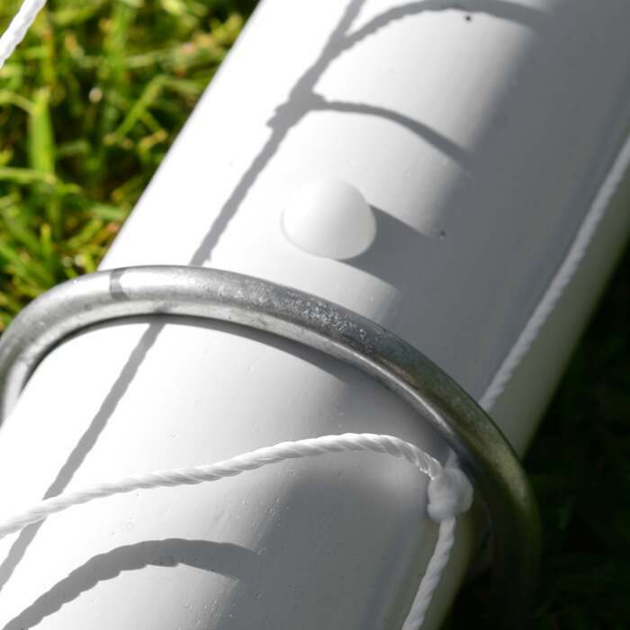 Essential Locking System Soccer Goals | Strong PVC Goal Posts