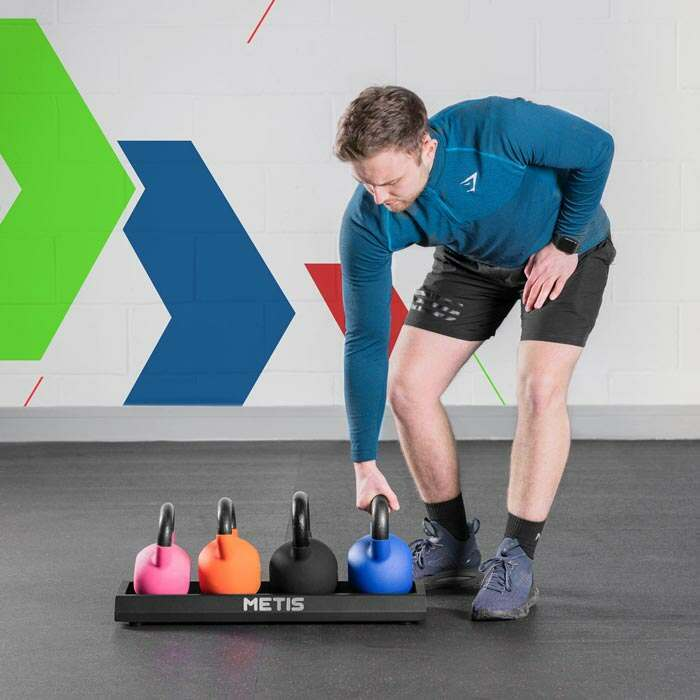 Kettlebells with Stand