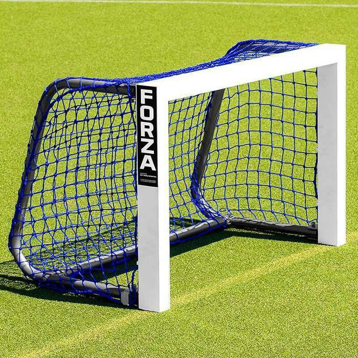 Weatherproof Mini Target Football Goal | Blue Netting For Mini Football Goals