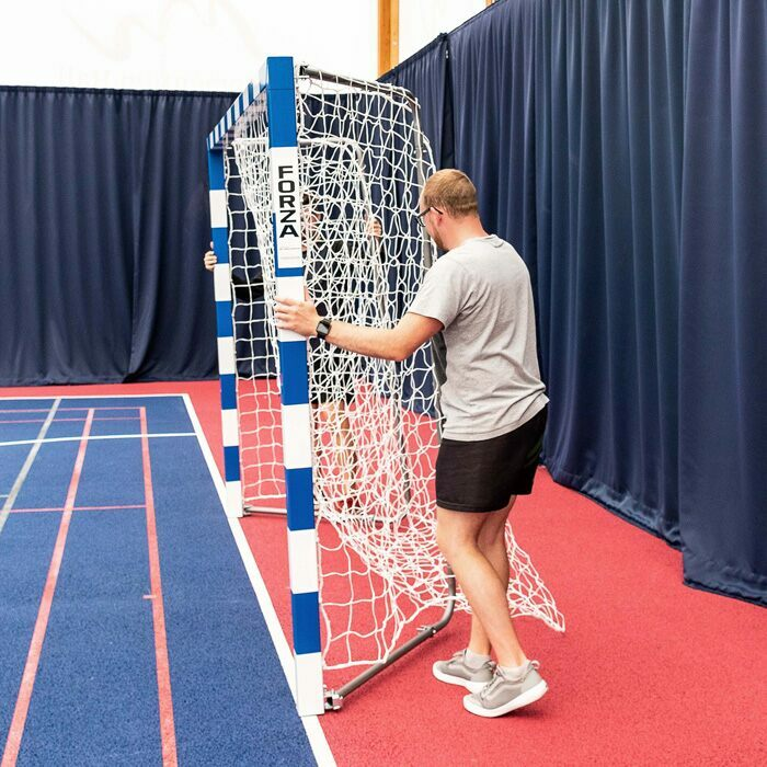 Foldaway Handball Goals | Portable Striped Handball Goal