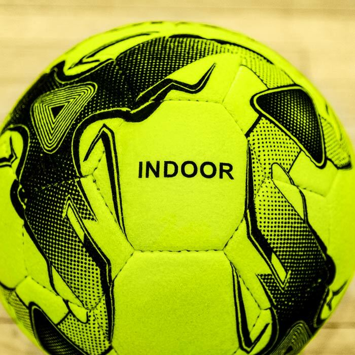 Size 5 Fluorescent Yellow Footballs | Premium Indoor Footballs