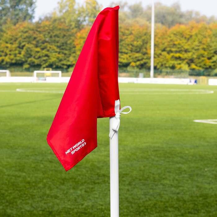 Set Of 4 Basic Football Corner Flags | Weatherproof Football Corner Flags