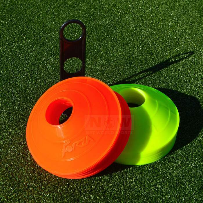 Orange And Yellow Soccer Training Cones | Brightly Colored Marker Cone For Soccer Training Pitches