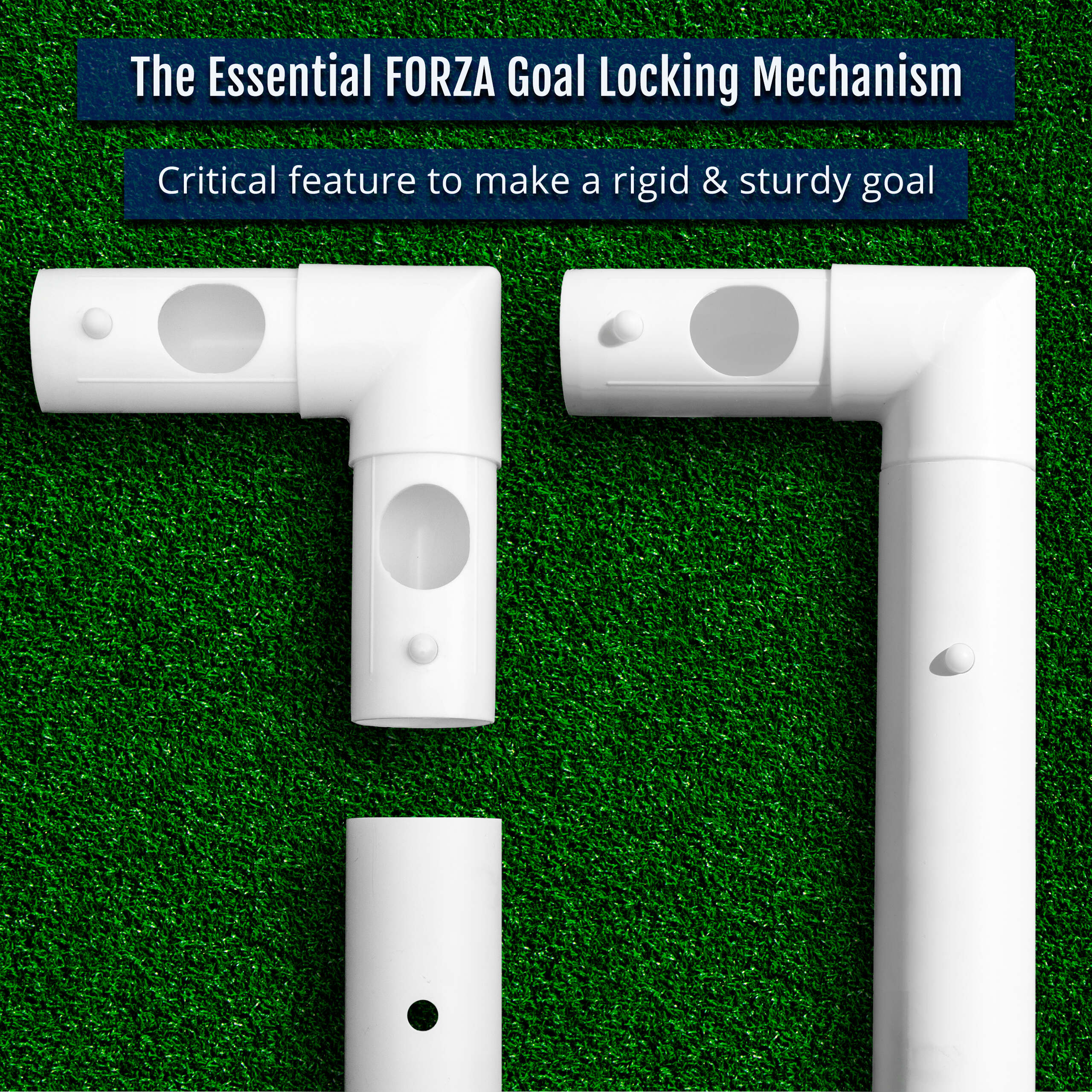 Essential Locking System Soccer Goals | PVC Mini Soccer Goal For Kids