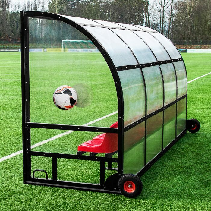 Weatherproof Shelters For Sport Pitches | Impact-Resistant Perspex Panels