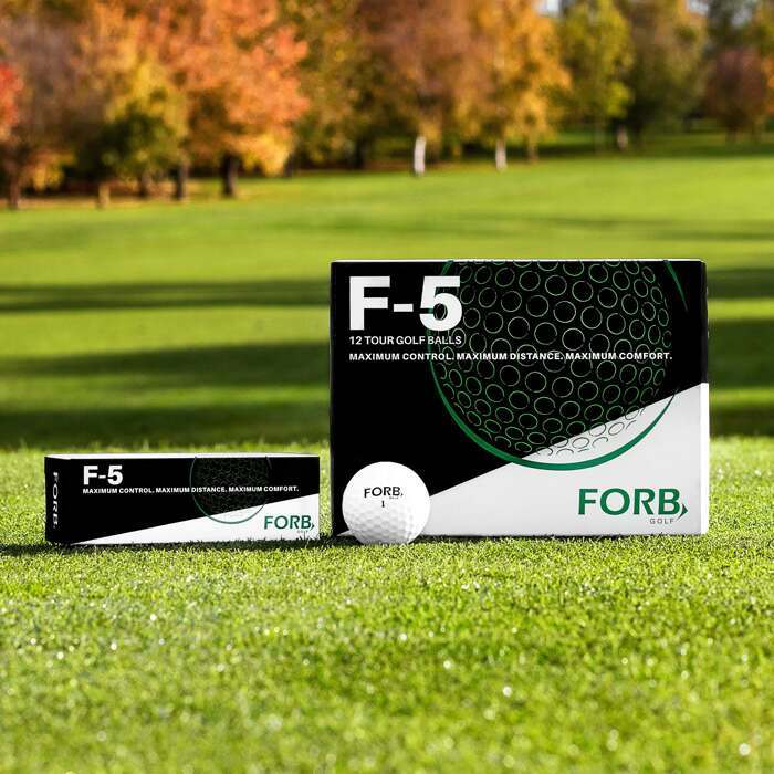 FORB F-5 Tour Quality Golf Balls | Free Golf Balls With Driving Range Mat
