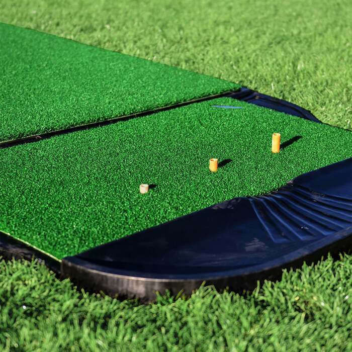 Golf Training Mat With Driving Range Tees & Golf Ball Tray