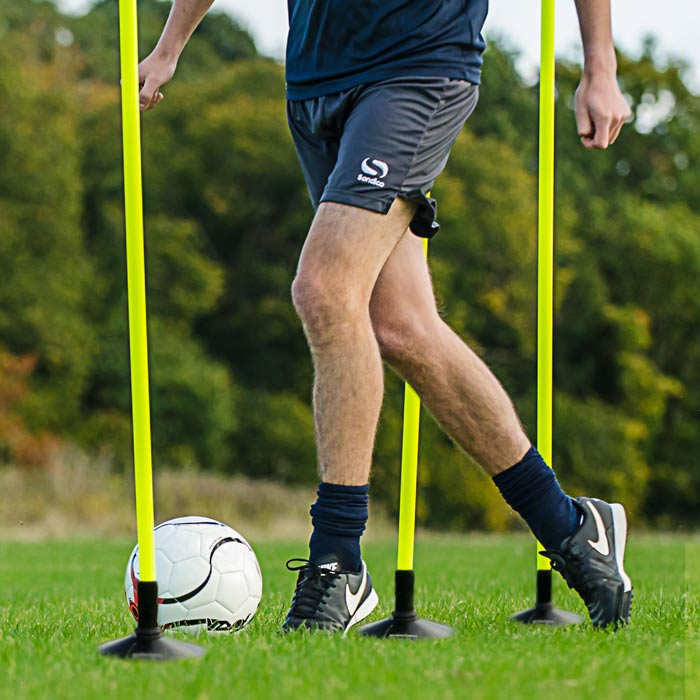 Improve Your Footwork With Slalom Poles