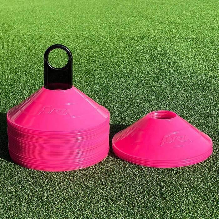 Portable Pink Soccer Cones