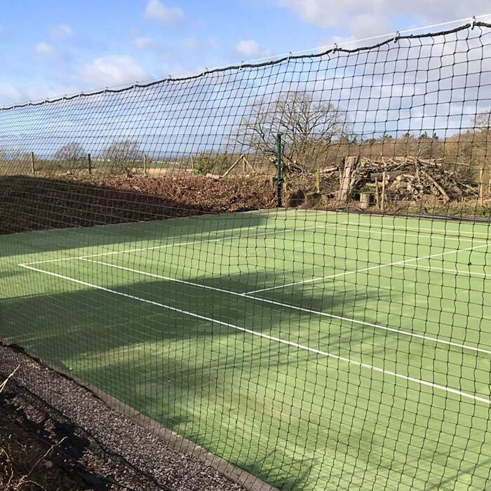 Tennis Court Surround Net System With 2mm HDPP Netting