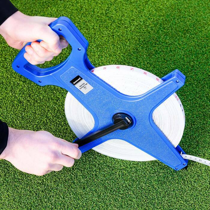 Retractable Open Reel Tape Measure With Hand Crank