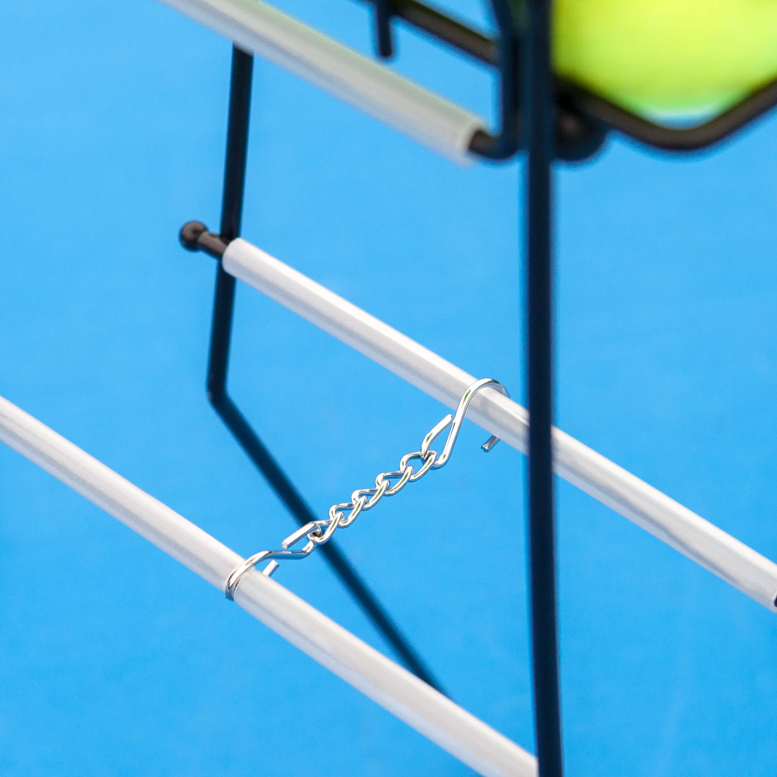 Tennis Ball Basket/Hopper Locking System