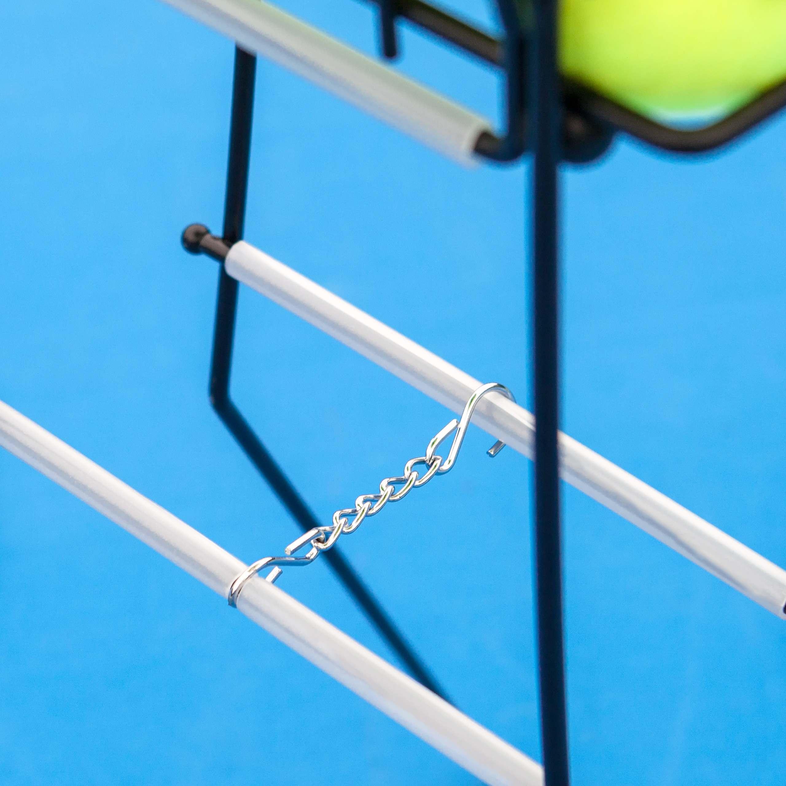 Récipient de Balles de Tennis avec Système de Verrouillage