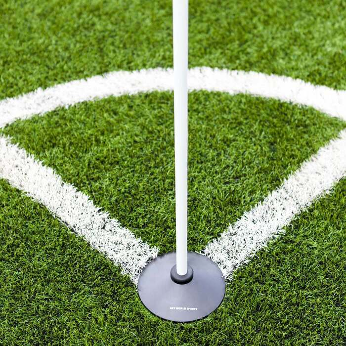 White Boundary Poles for Marking Out Sports Pitches
