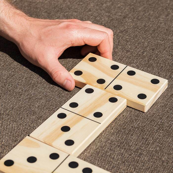 Premium Wooden Dominoes Set | Harrier Giant Dominoes