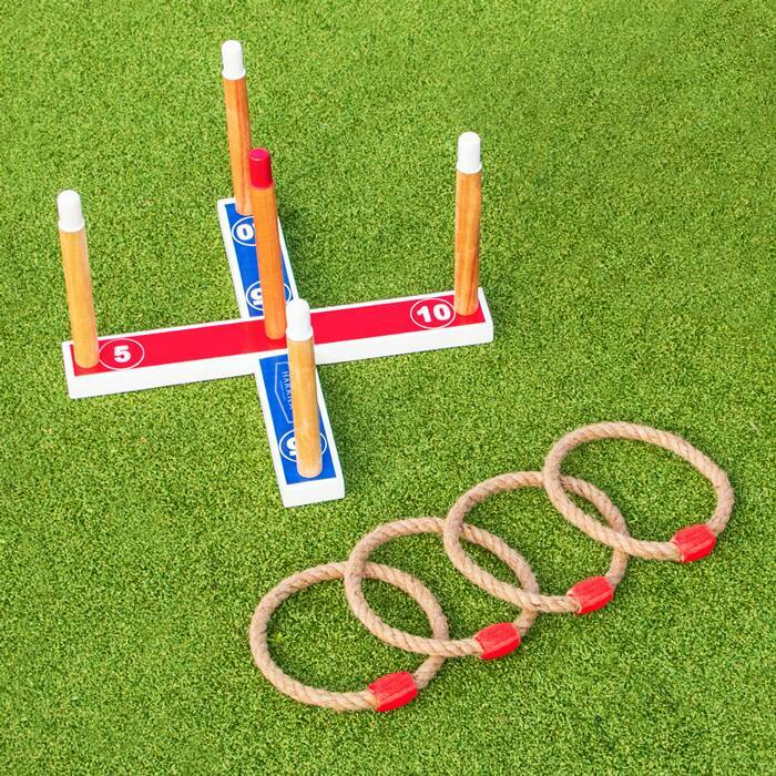 Portable Backyard Quoits Set | Jumbo Wooden Quoits Set