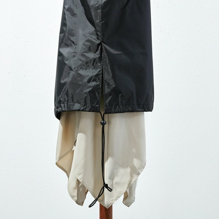 overhanging cover with drawstring
