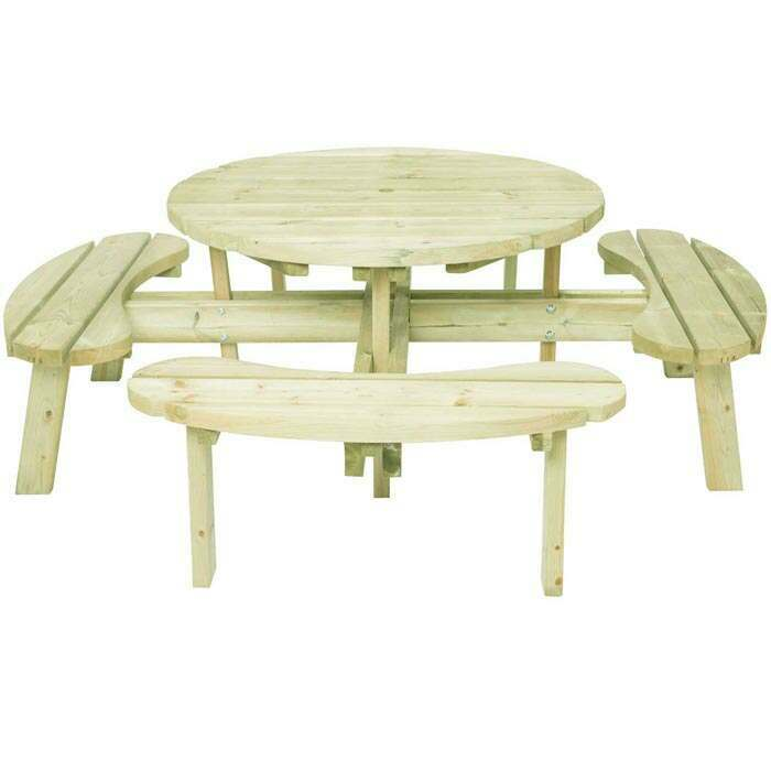 Rounded Picnic Table