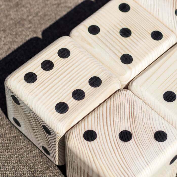 Premium Wooden Dice Set | Long-Lasting Outdoor Games Sets