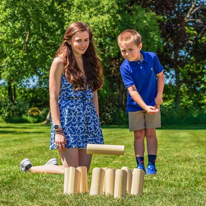 Outdoor Family Garden Games | Numbered Skittles Sets