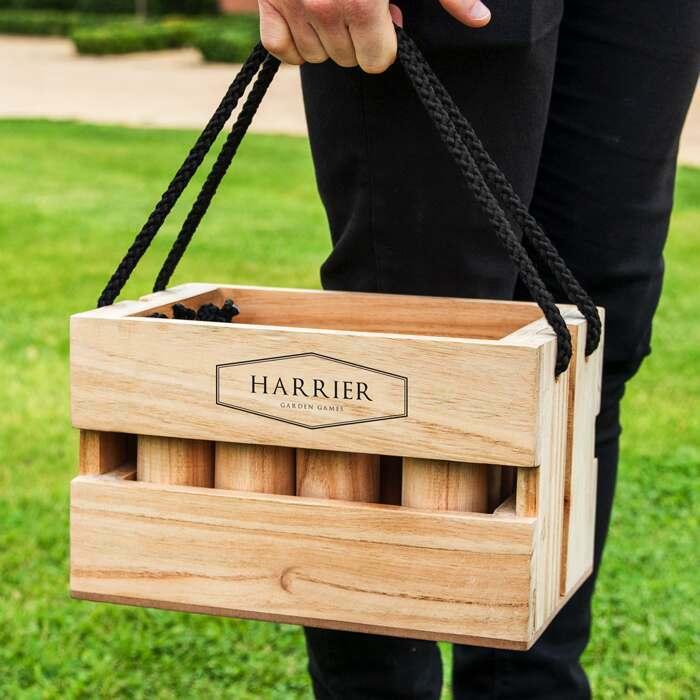 Portable Backyard Skittles Set | Wooden Outdoor Skittles