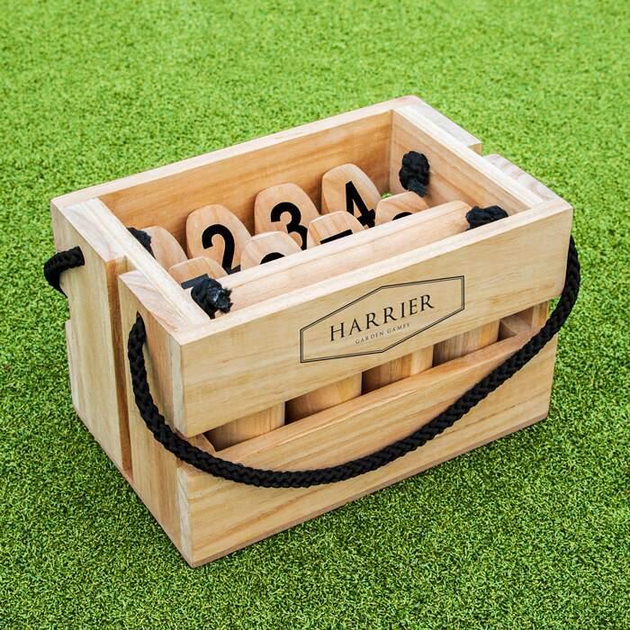 Complete Wooden Skittles Set | Outdoor Backyard Games