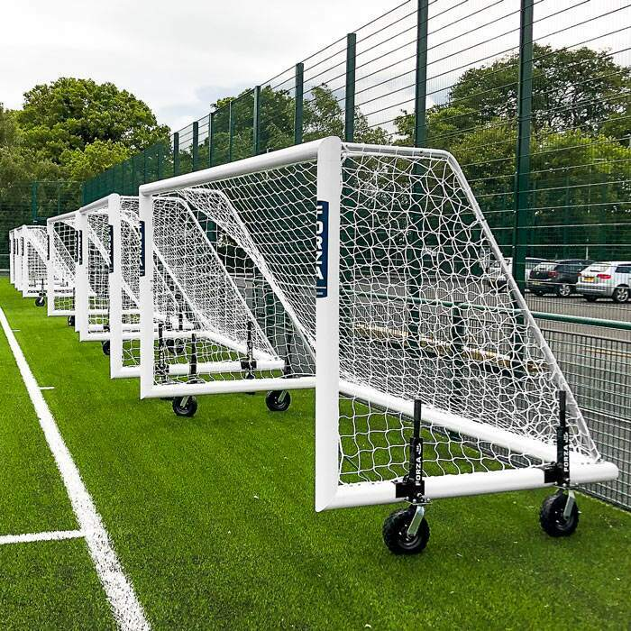5.6m x 2m Alu110 Soccer Goals | Soccer Goal With Wheels