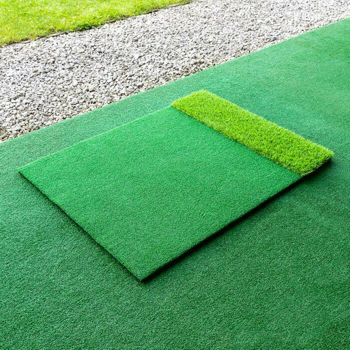 Supports d'Entraînement de Golf – Tapis à Double Gazon