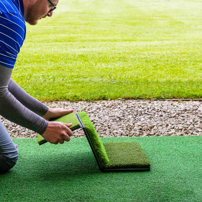 Tri Fold Golf Hitting Mat Rough Fringe Fairway