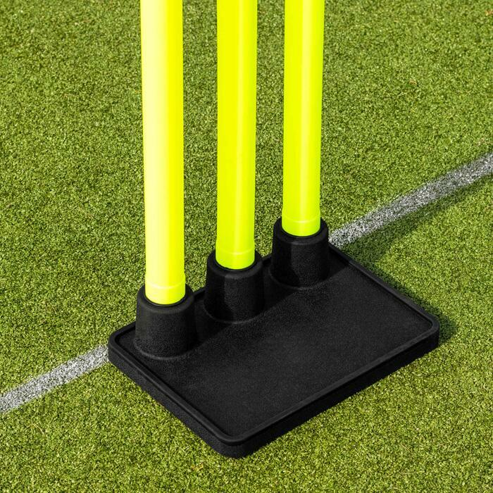 Portable Cricket Stumps With Heavy Duty Rubber Base | Cricket Equipment