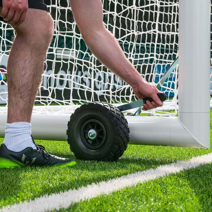 18.5 x 6.5 Alu110 Soccer Goals | Soccer Goal With Wheels