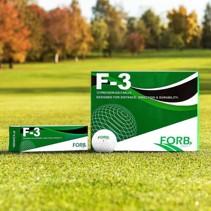 FORB F-3 Ultra Precision Golf Balls | 3 Or 12 Pack