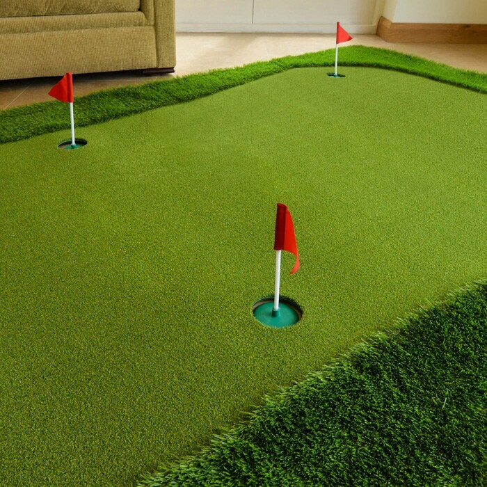 FORB Golf Putting Mat With Mini Plastic Flags
