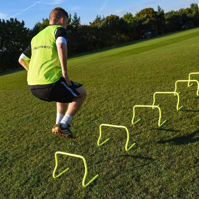 Three Different Heights of Speed Agility Hurdles For Football Training | Shatterproof Plastic Football Training Hurdles