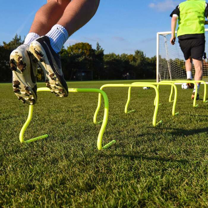 Fluorescent Yellow Football Training Hurdles | Football Speed And Agility Training Hurdles
