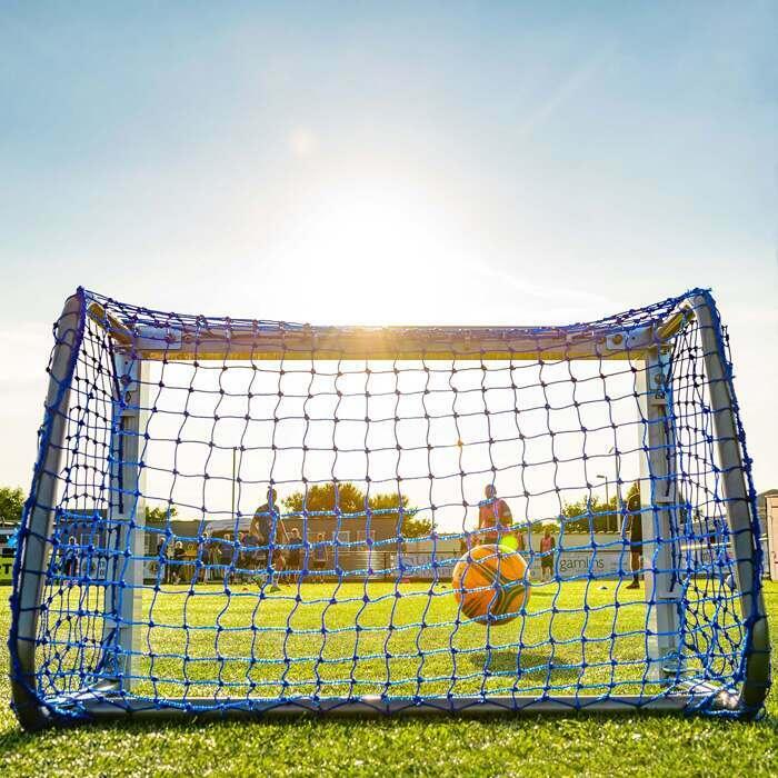 Weatherproof Mini Target Soccer Goal | Blue Netting For Mini Soccer Goals
