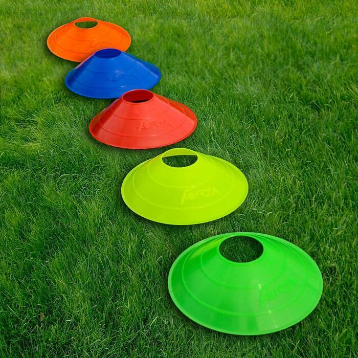 Multi-Coloured Football Marker Cones for Training Sessions and Match Days