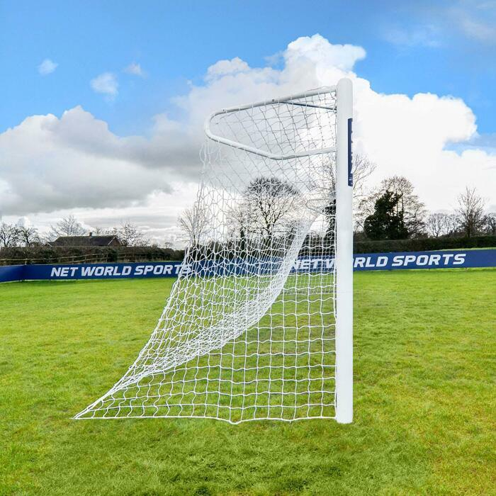 7.3m x 2.4m Socketed Football Goal | 110mm Powder Coated Aluminium Football Goals