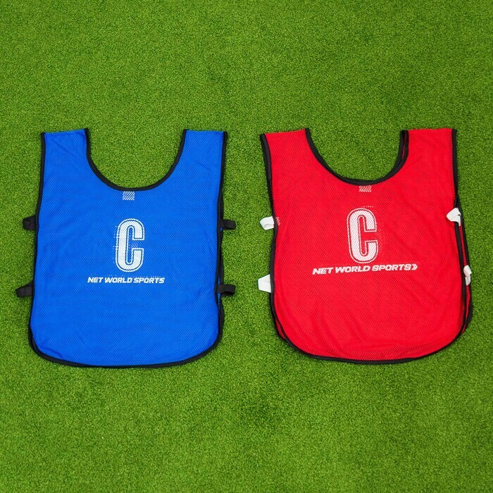 Professional Netball Bibs In Or Red | Kids, Junior & Senior Sizes