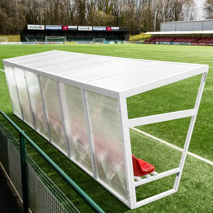 Aluminium Sports Team Shelter | Heavy-Duty Football Team Shelter
