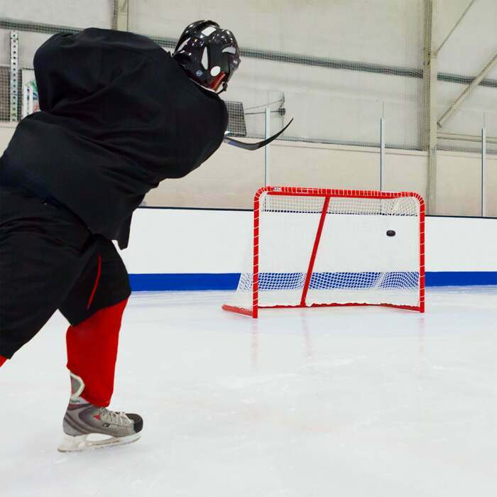 Easy To Assemble Regulation Hockey Goal | Durable Steel Frame